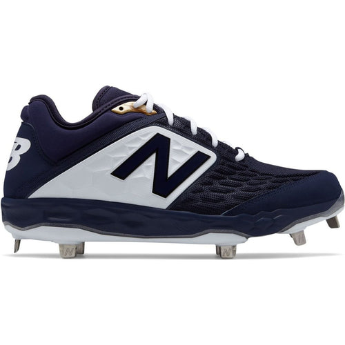 New Balance Men's 3000 V4 Navy Metal Baseball Cleats