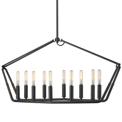 Corbin Linear Pendant in Natural black