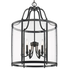 Payton 6 Light Pendant in Matte Black