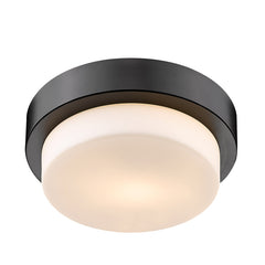 "Versa Flush 9"" Flush Mount in Matte Black"