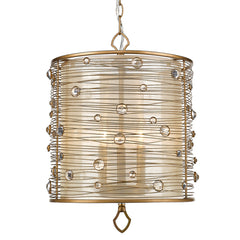 Joia 3 Light Pendant in Peruvian Gold