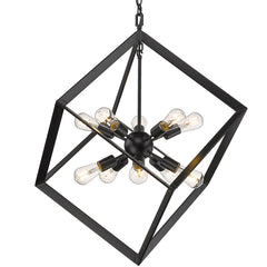 Architect 10 Light Pendant in Matte Black