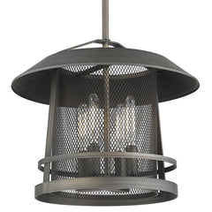 Parsons 3 Light Pendant in Gunmetal Bronze