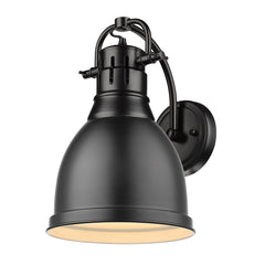 Duncan 1 Light Wall Sconce in Matte Black with Matte Black Shade