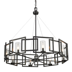 Marco 8 Light Chandelier in Matte Black