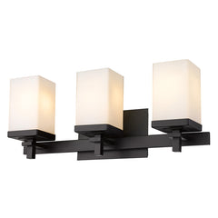 Maddox 3 Light Bath Vanity in Matte Black