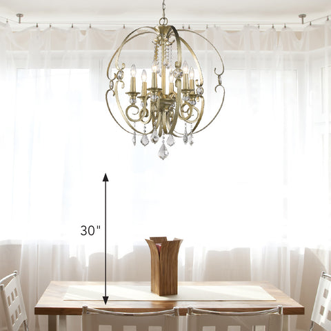 Measurement guidelines for hanging a light fixture over a table