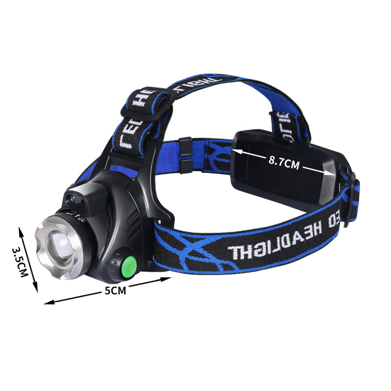 LED Outdoor Headlamp Camping Headlight Flashlight Head Torch Light Rechargeable