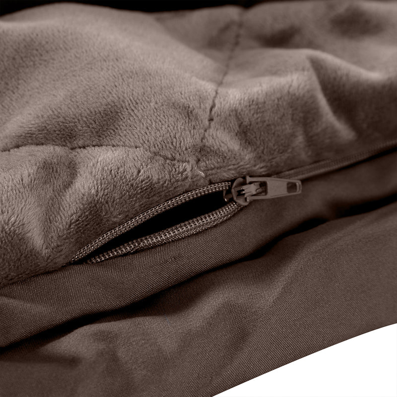 DreamZ 5KG Anti Anxiety Weighted Blanket Gravity Blankets Mink Colour