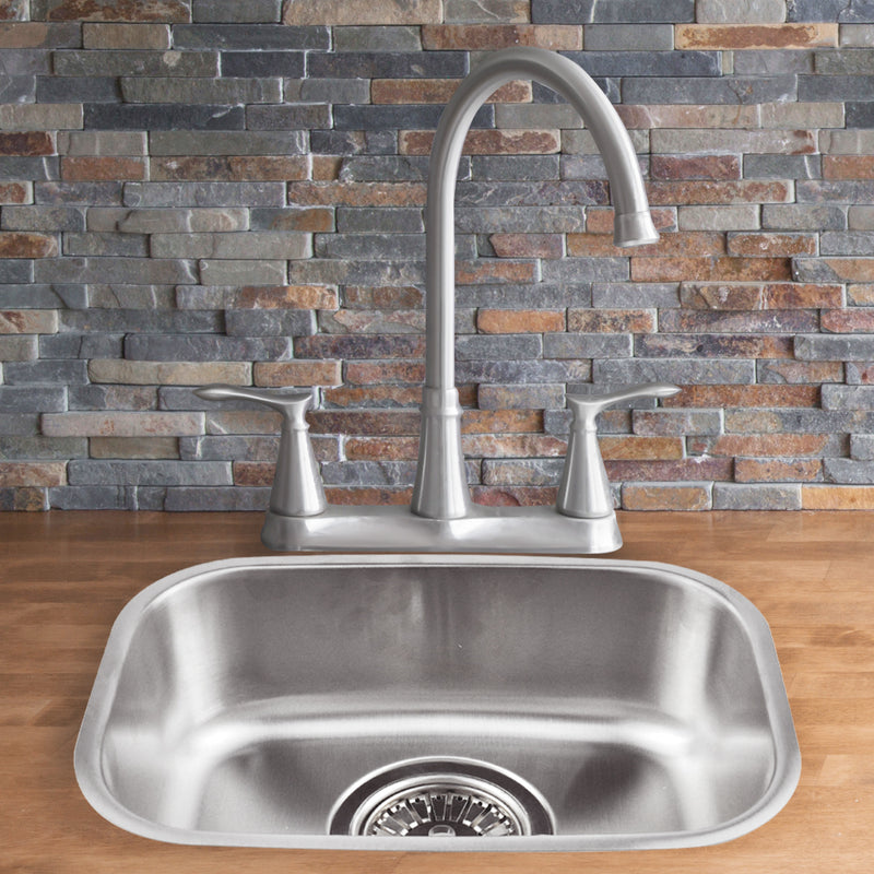 Kitchen Sink Stainless Steel Under/Topmount Handmade Laundry  Single Bowl