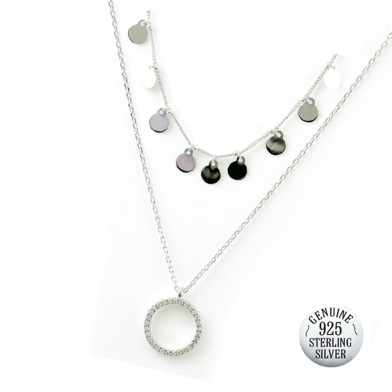 DANICA STERLING SILVER DOUBLE NECKLACE