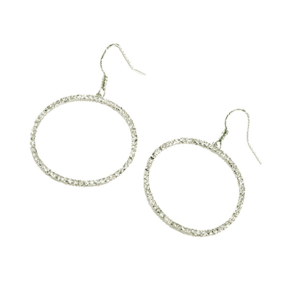 CRYSTAL SURROUND HOOP EARRINGS + FREE SURPRISE EARRINGS