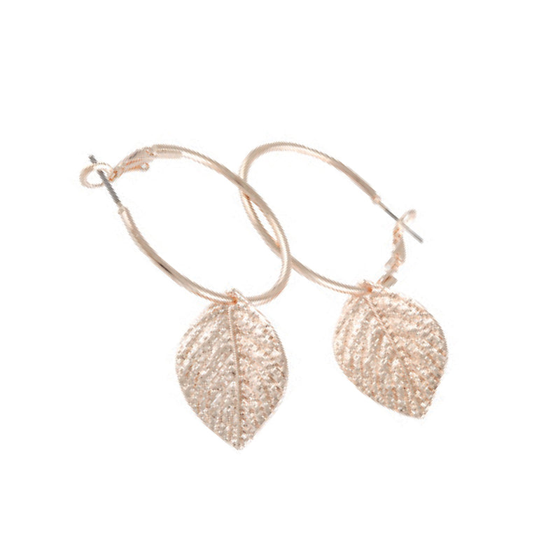 DROP LEAF HOOP EARRINGS + FREE SURPRISE EARRINGS
