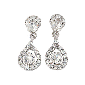 SWAROVSKI ELEMENTS FILIGREE DROP EARRINGS
