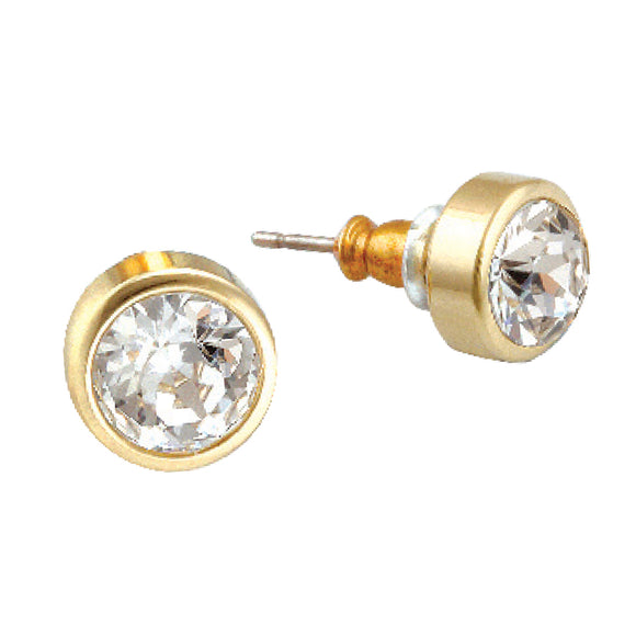 SWAROVSKI ELEMENTS GOLDTONE STUDS