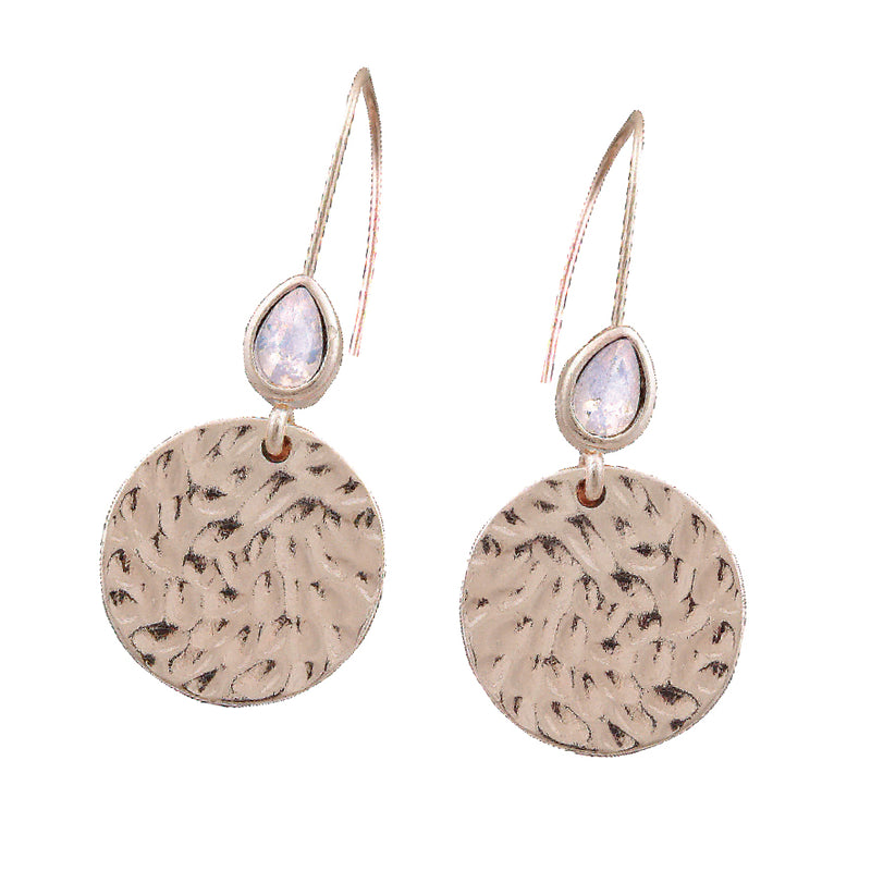 AXEL HAMMERED DISC EARRINGS