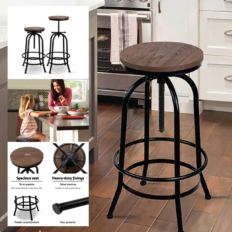 ELMWOOD RETRO BAR STOOL