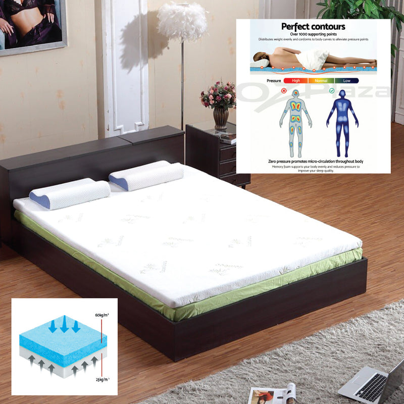 MEMORY FOAM COOL GEL MATTRESS TOPPER
