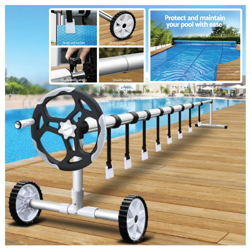POOL BLANKET ROLLER CADDY WITH WHEELS