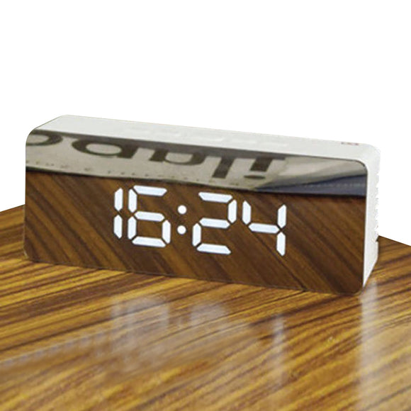 MIRRORED LED ALARM CLOCK