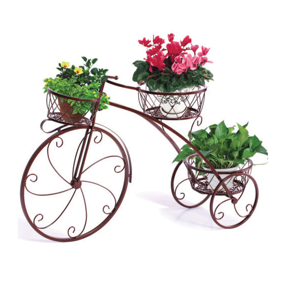 BRONZE BICYCLE POT STAND