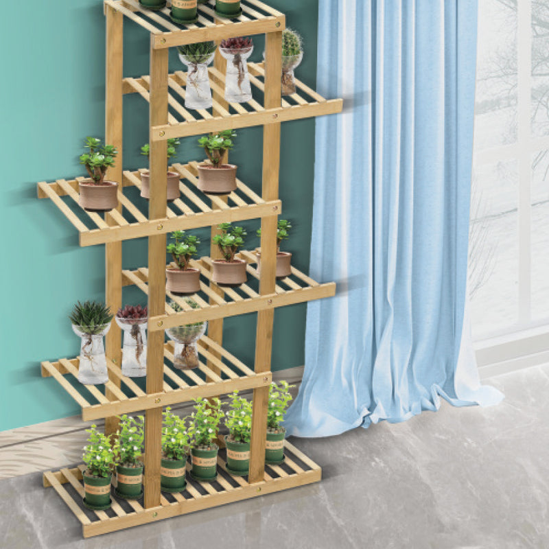 6 TIER BAMBOO SHELVING