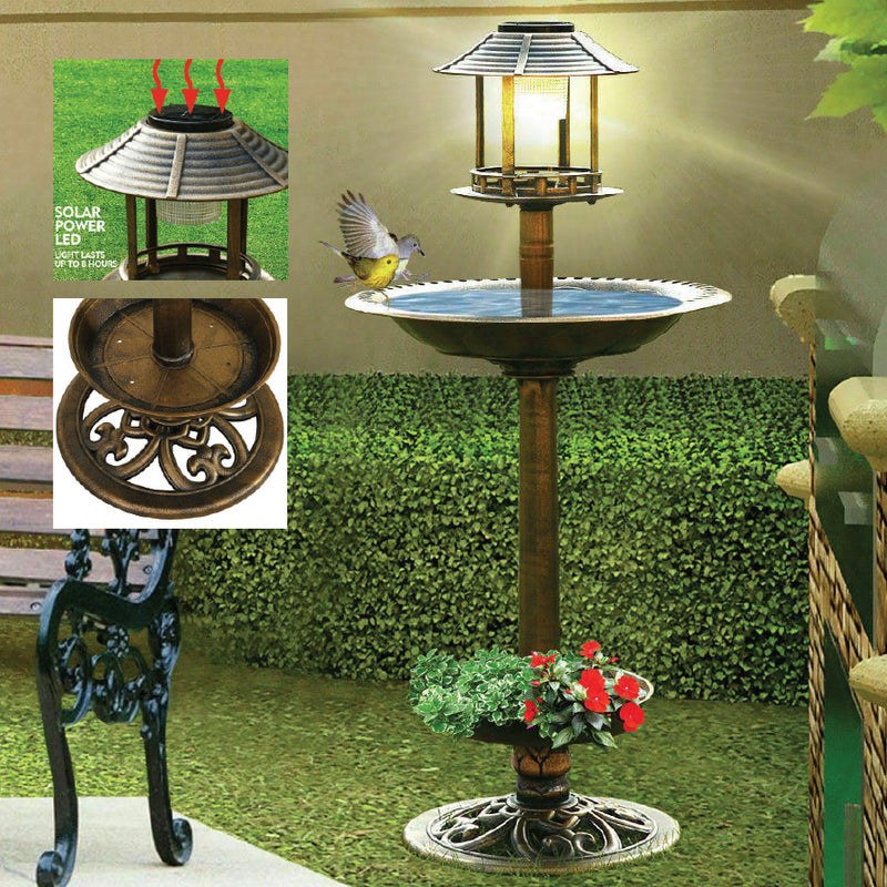 SOLAR POWERED BIRD FEEDER