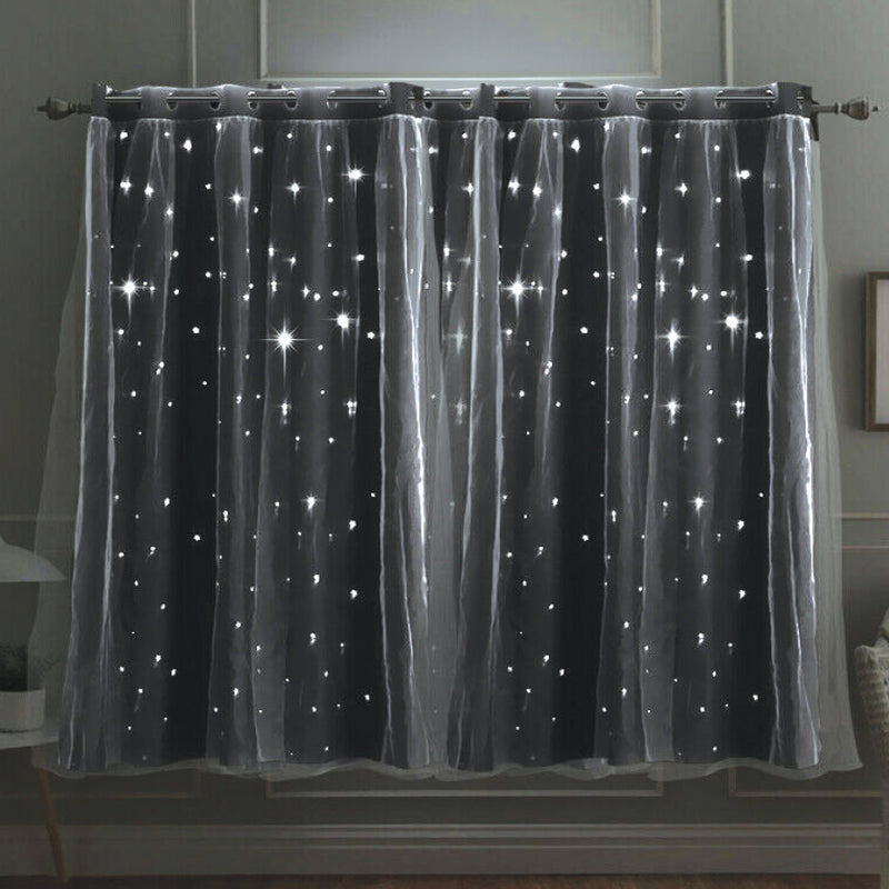 COOL GREY 'STARLIGHT' CURTAINS