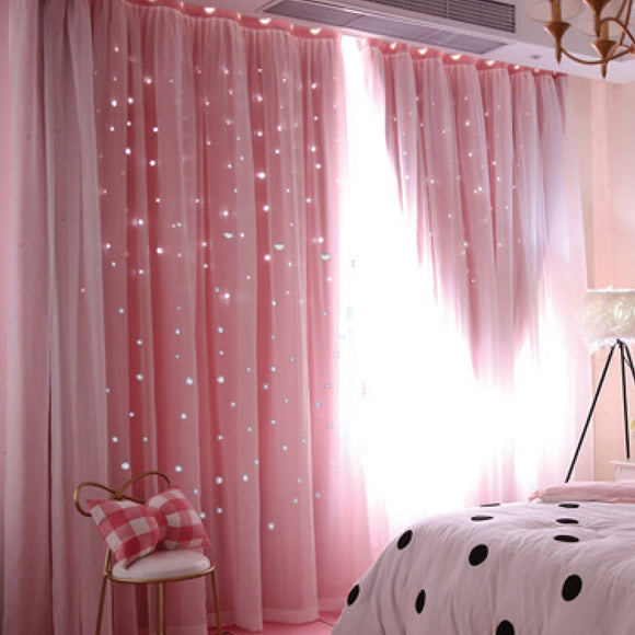 POWDER PINK BLOCK OUT CURTAINS