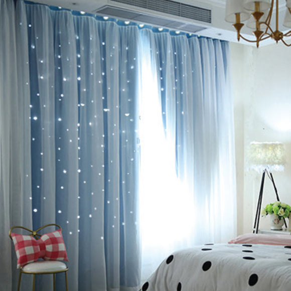 AQUA BLUE BLOCK OUT CURTAINS