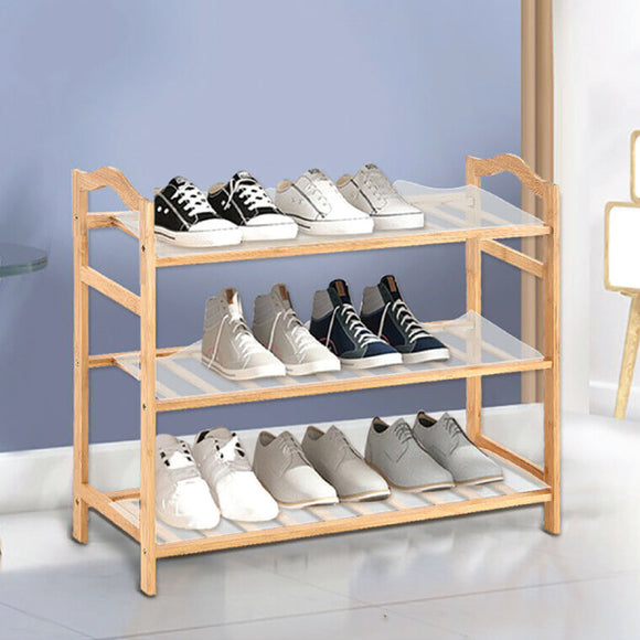 3 TIER 70CM WIDE BAMBOO SHOE STAND