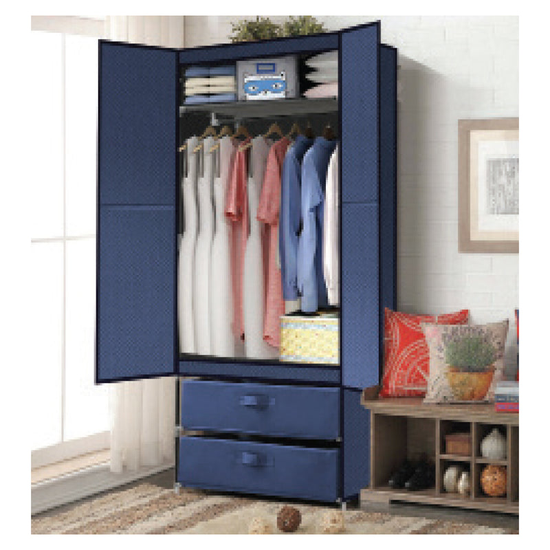 NAVY WARDROBE STORAGE