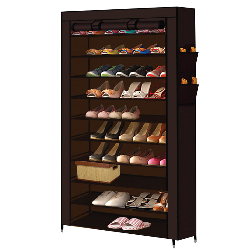 BROWN EXTRA WIDE SHOE ORGANISER