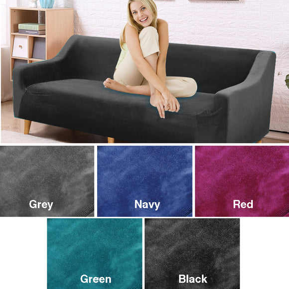 GREEN 3 SEATER STRETCH COVER