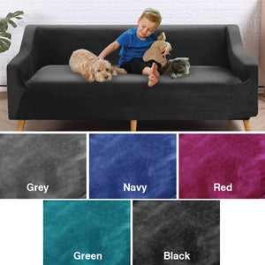 BLACK 4 SEATER STRETCH COVER