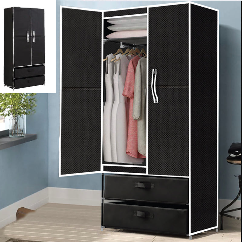 2 DRAWER PORTABLE WARDROBE