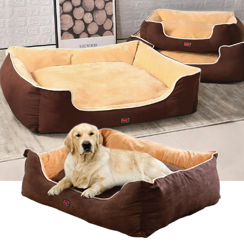 BROWN PLUSH PET BED
