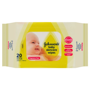 Johnson's Baby Wipes Fragrance Free Travel 20 Pack