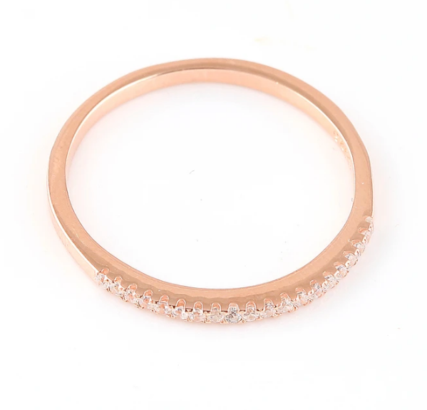 ROSE GOLD CUBIC RING