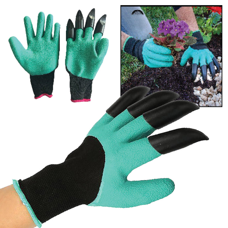PAIR OF CLAW GARDENING GLOVES
