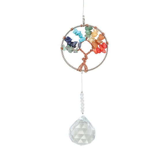 HEALING STONES TREE OF LIFE SUNCATCHER