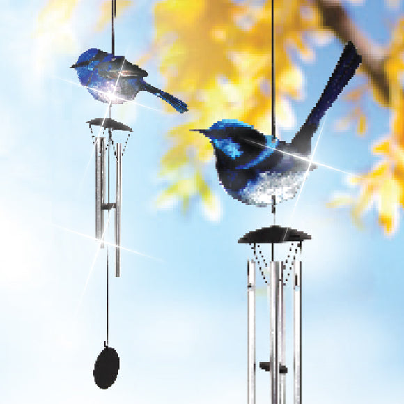 LARGE BLUE WREN WINDCHIME