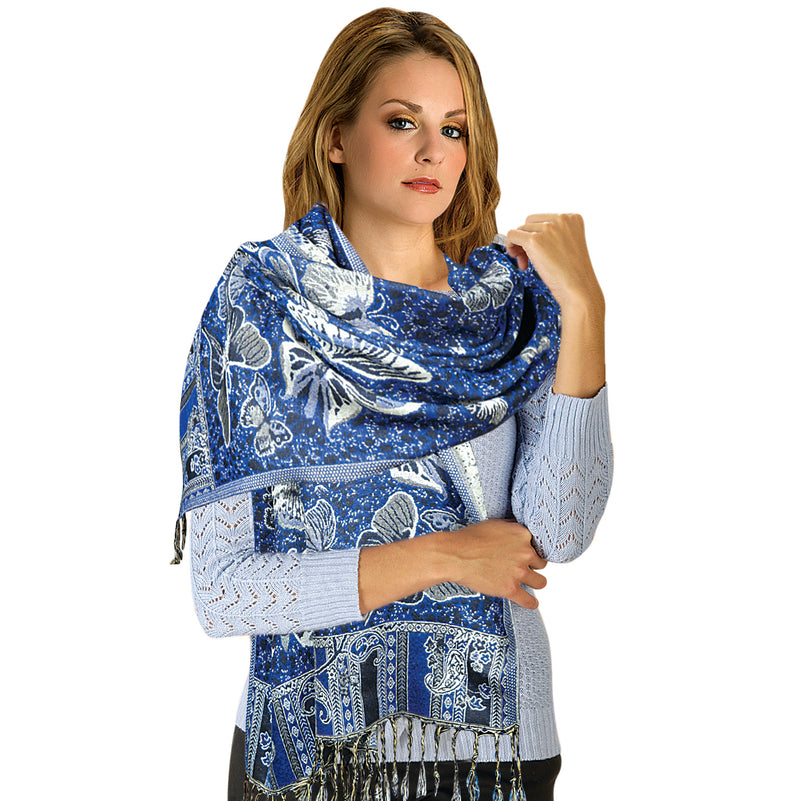 NAVY BLUE LADIES PASHMINA