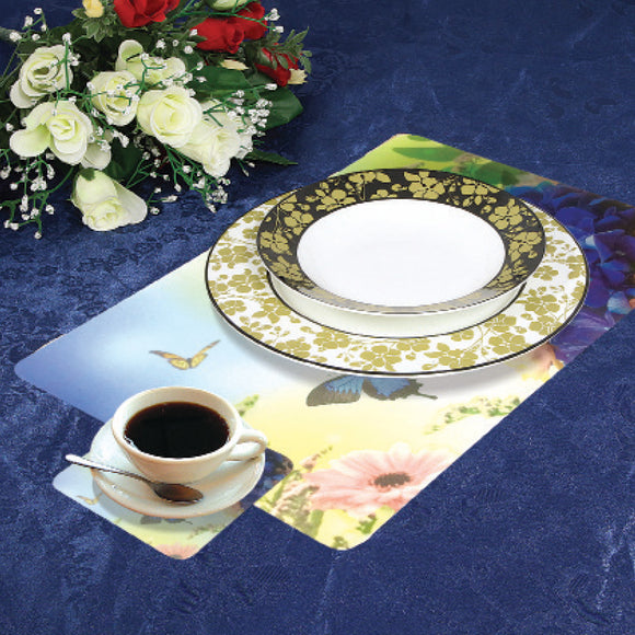 8-PIECE BUTTERFLY PLACEMAT AND COASTER SET
