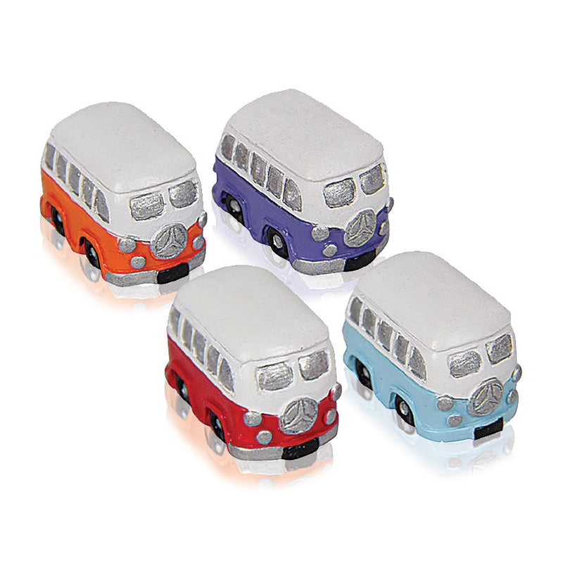 SET OF 4 COLLECTIBLE MINI KOMBI VANS