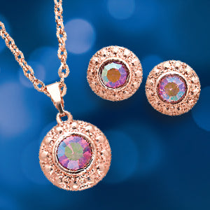 AURORA BOREALIS NECKLACE AND EARRING SET