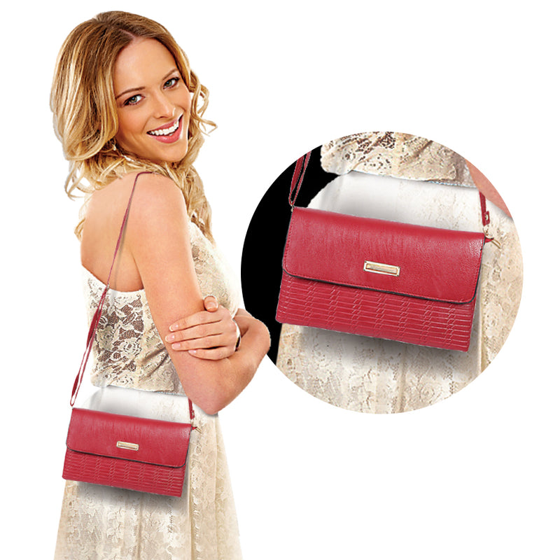 DEEP RED SHOULDER BAG