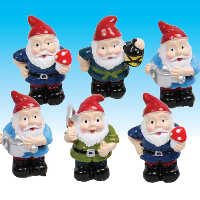 SET OF 6 COLLECTABLE GNOMES