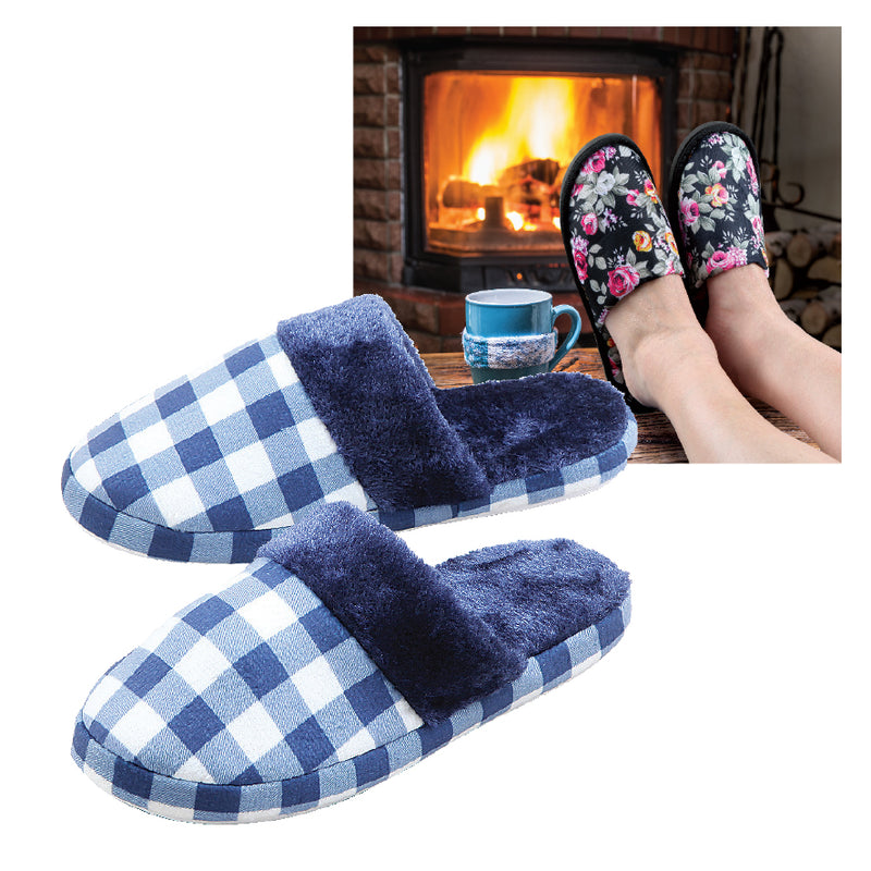 LADIES AND GENTS PLUSH SLIPPERS SET