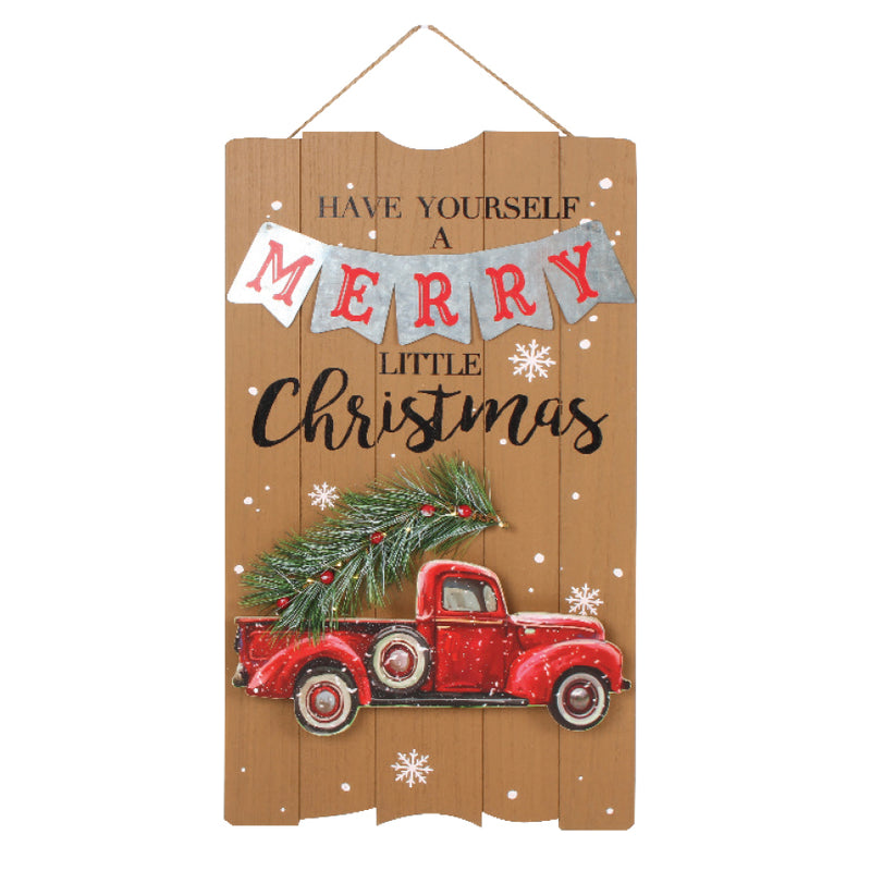 LIGHT UP MERRY CHRISTMAS HANGING SIGN